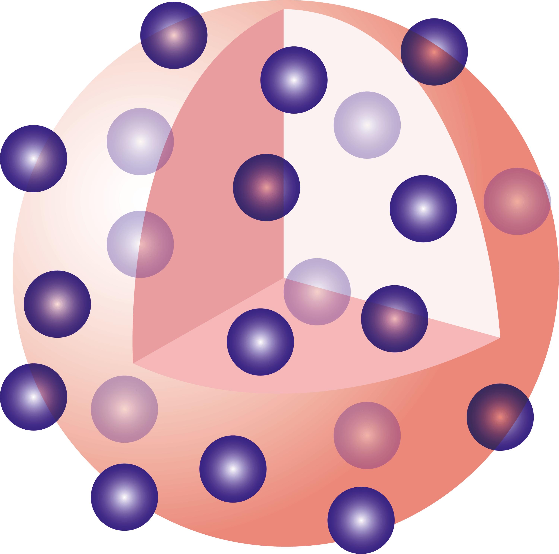 Le modèle atomique de Thomson, dépassé dès 1911.