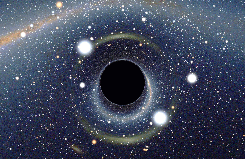 Image simulée d'un trou noir.
