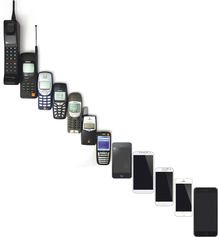 Évolution des téléphones portables