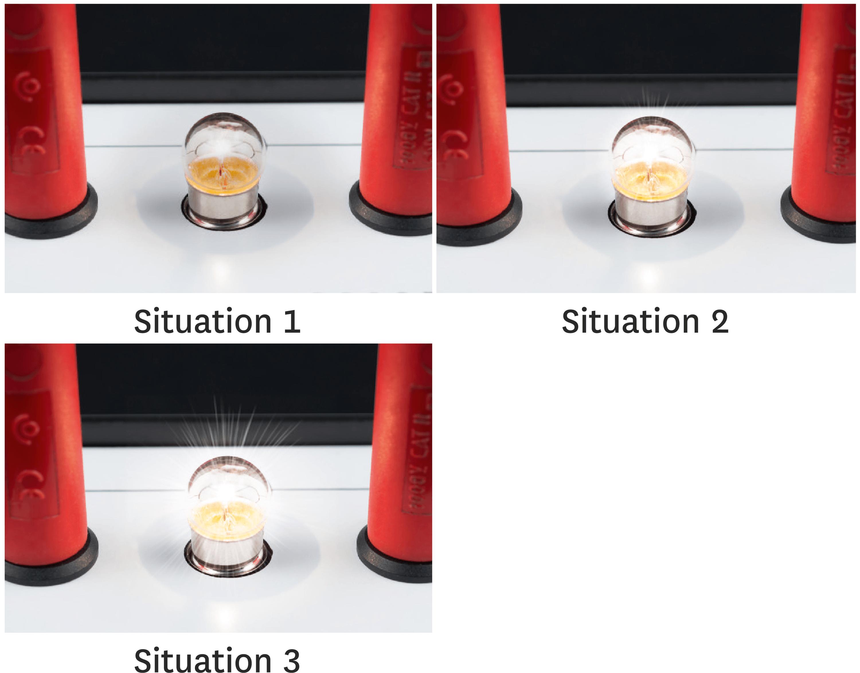 Générateur et lampe.