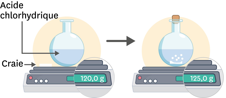 Masse et transformations chimiques.