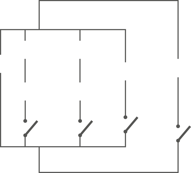 Schéma du circuit, sans les composants.