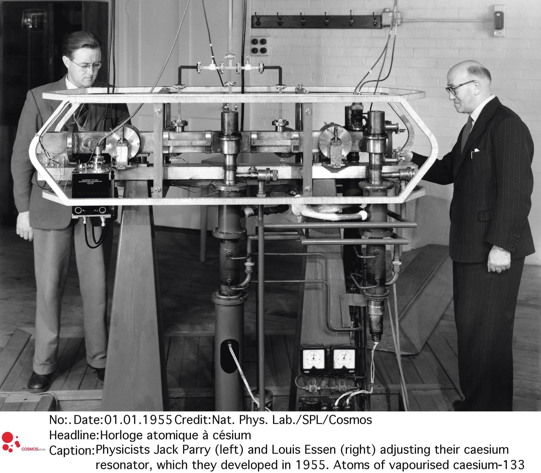 La première horloge atomique.