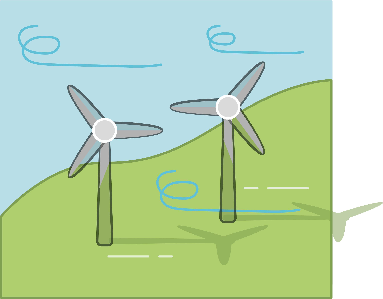 Les éoliennes exploitent l'air en mouvement.