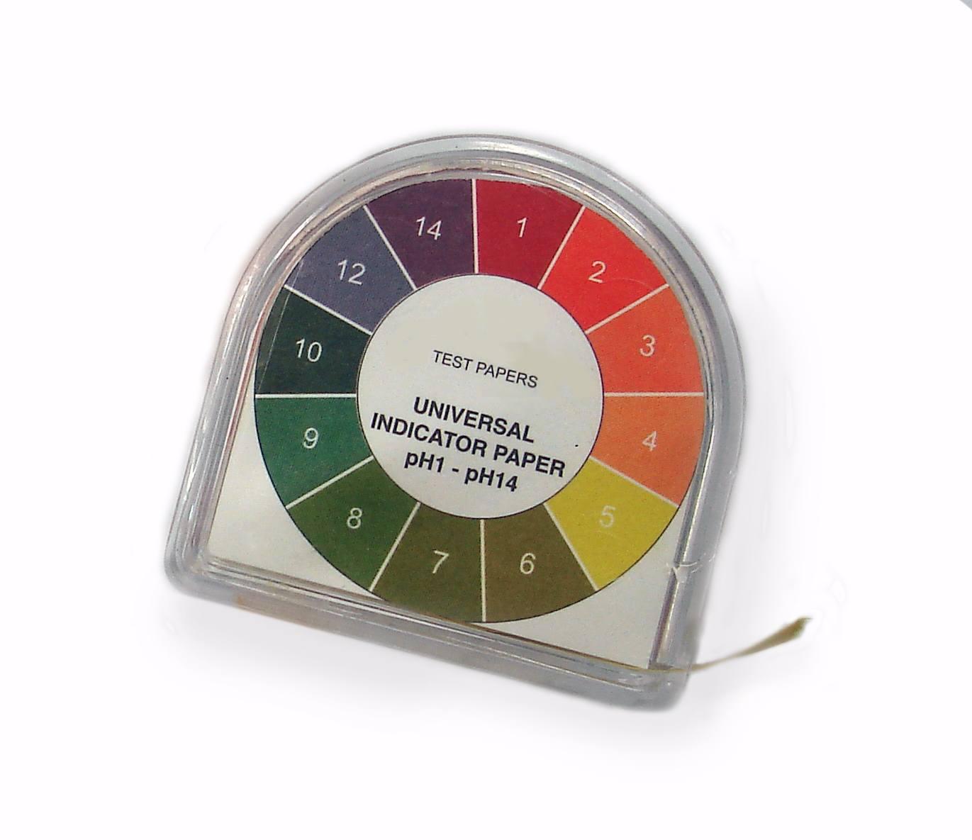 Nuancier papier pH.