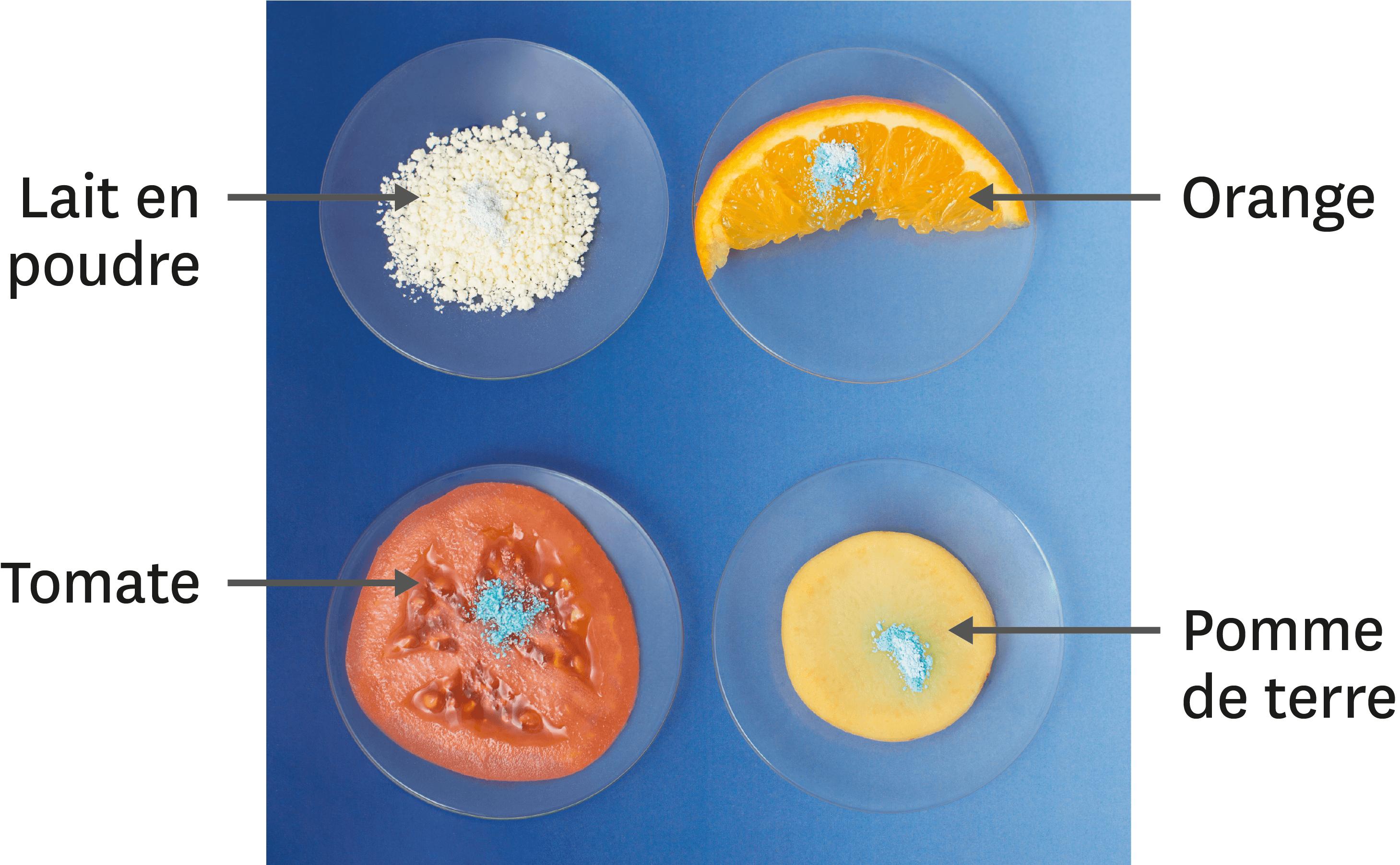 Orange et lait en poudre.