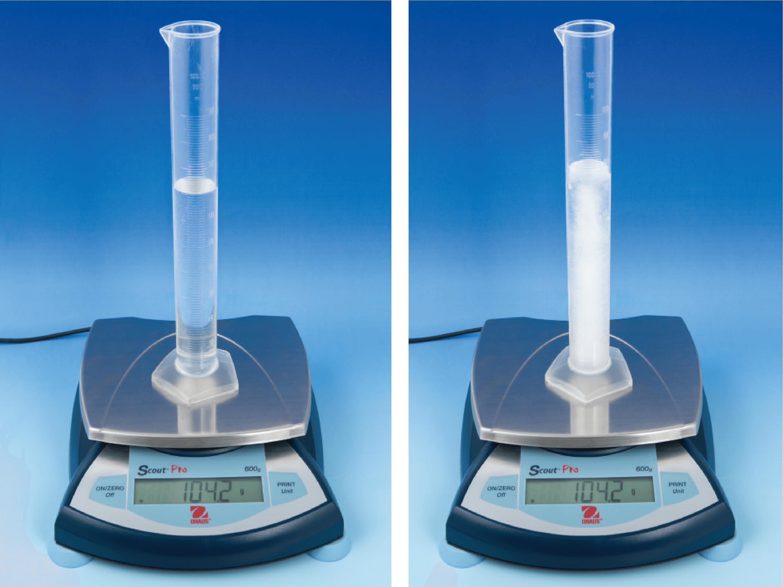 Solidification de l'eau : étude de la masse volumique
