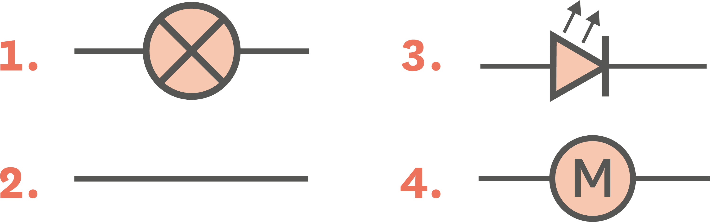 Symbole normalisé du moteur.