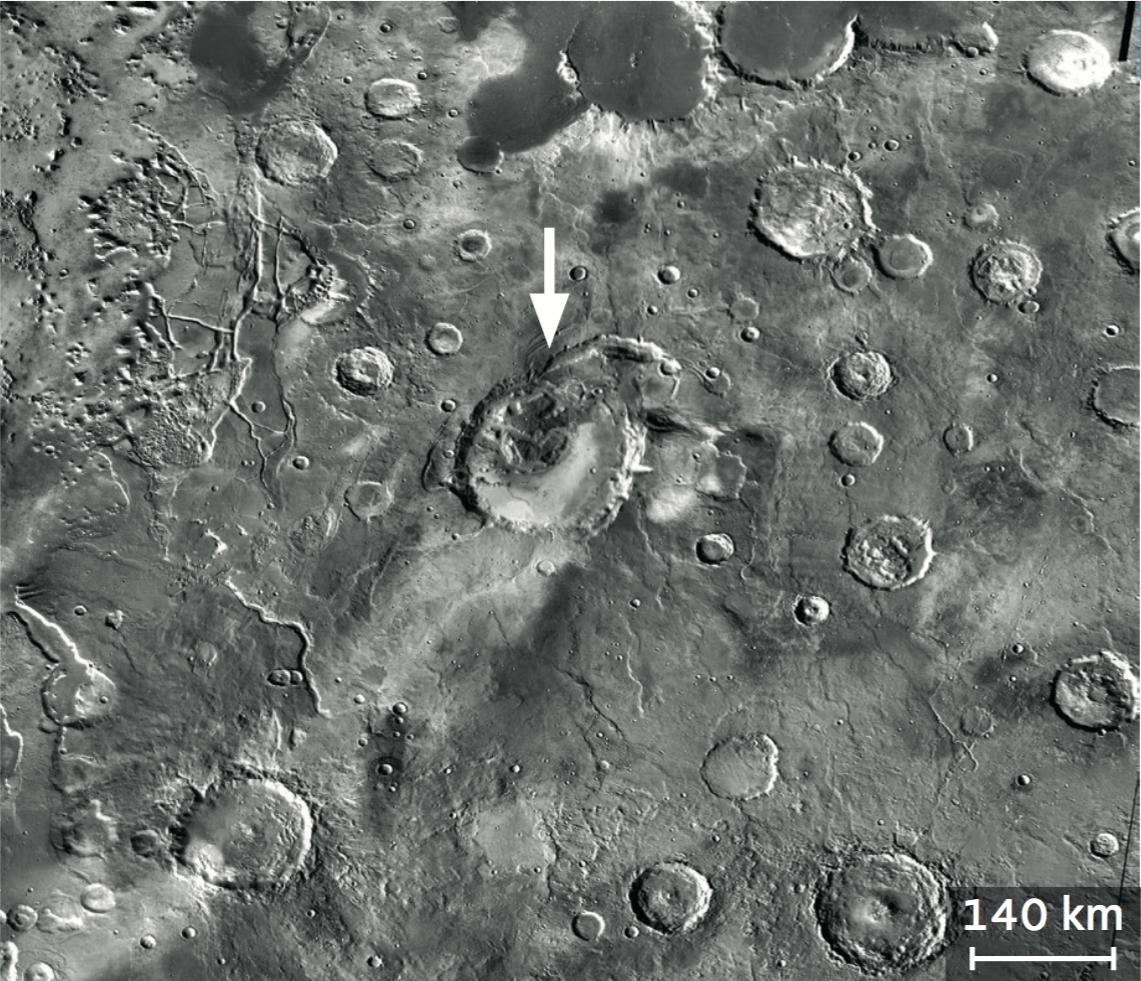 Un cratère de météorite ou un volcan ?