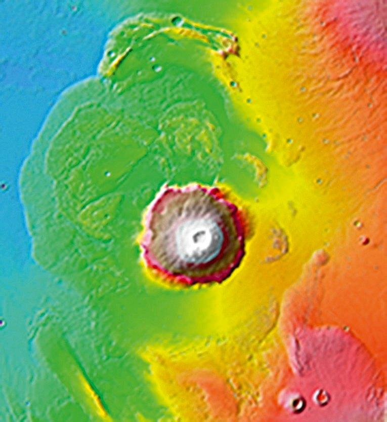 Le mont Olympe, le plus gros volcan martien.