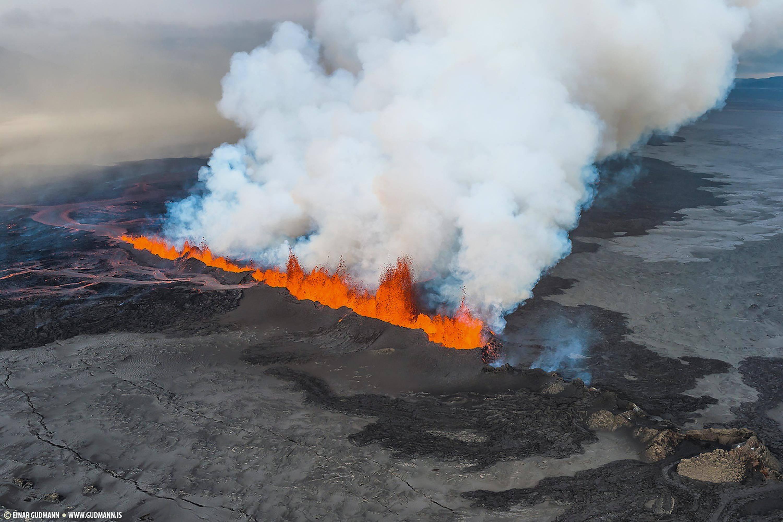 L'éruption du Bárðarbunga en 2014