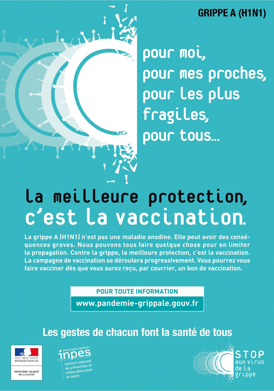 Une campagne de vaccination contre la grippe, France, 2009.
