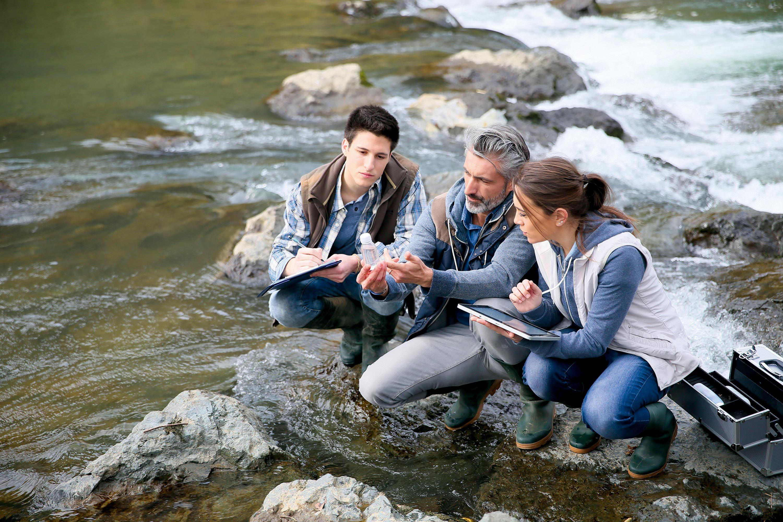 Le suivi de la biodiversité dans une rivière.