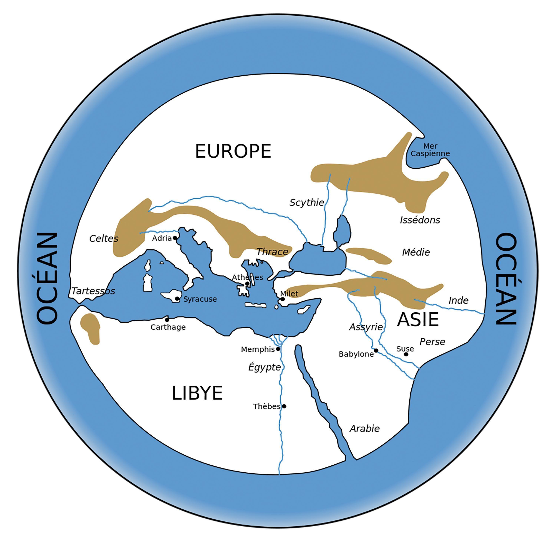 Le monde selon Hécatée de Milet.