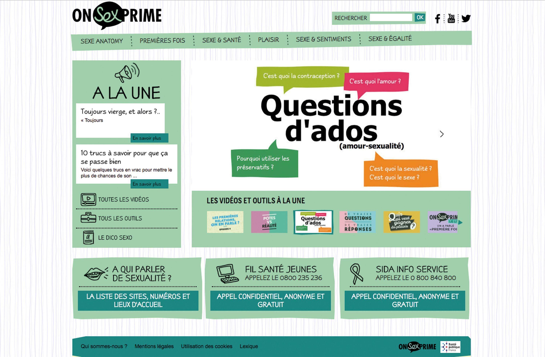 Le site internet onsexprime.fr.