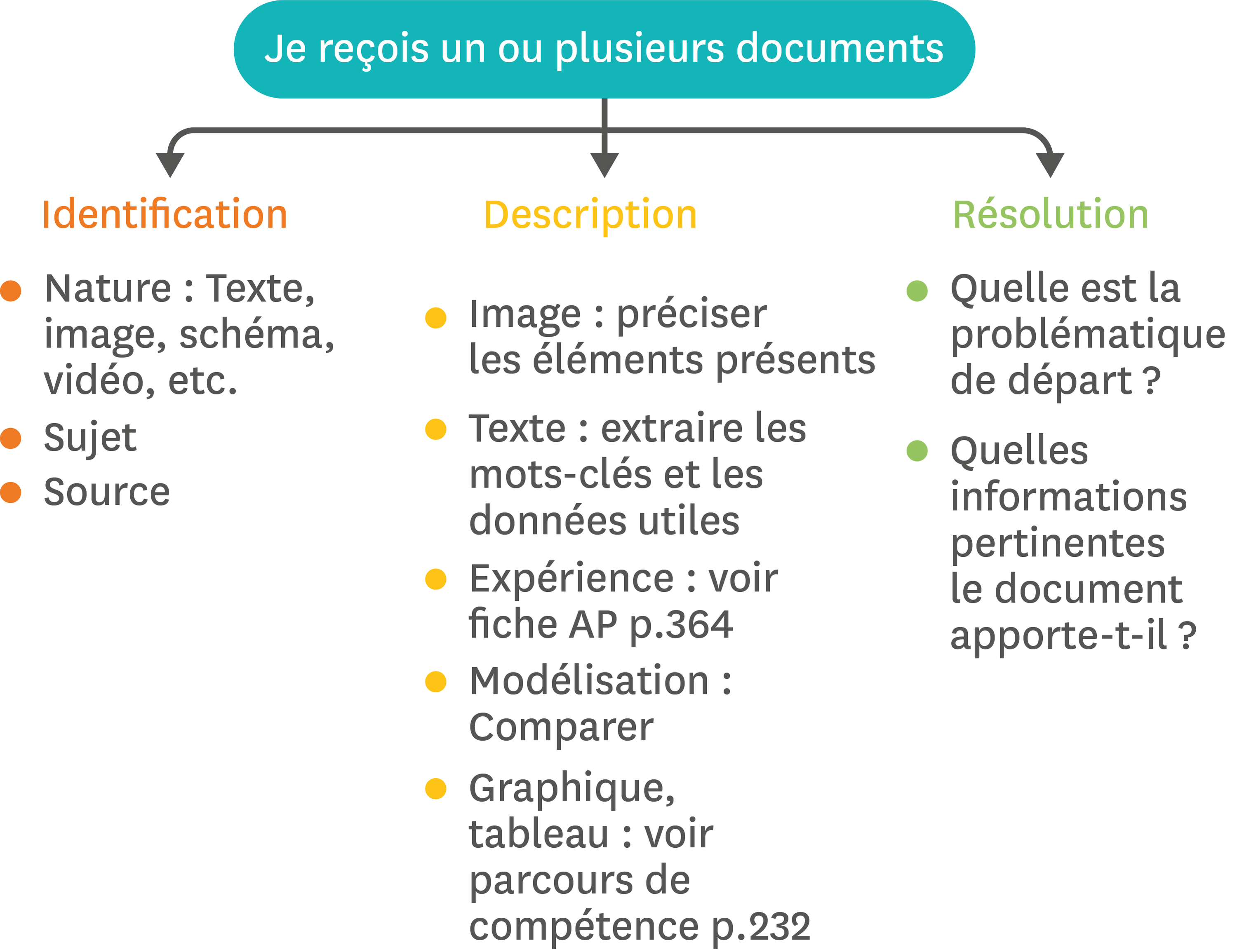 L'exploitation de documents.