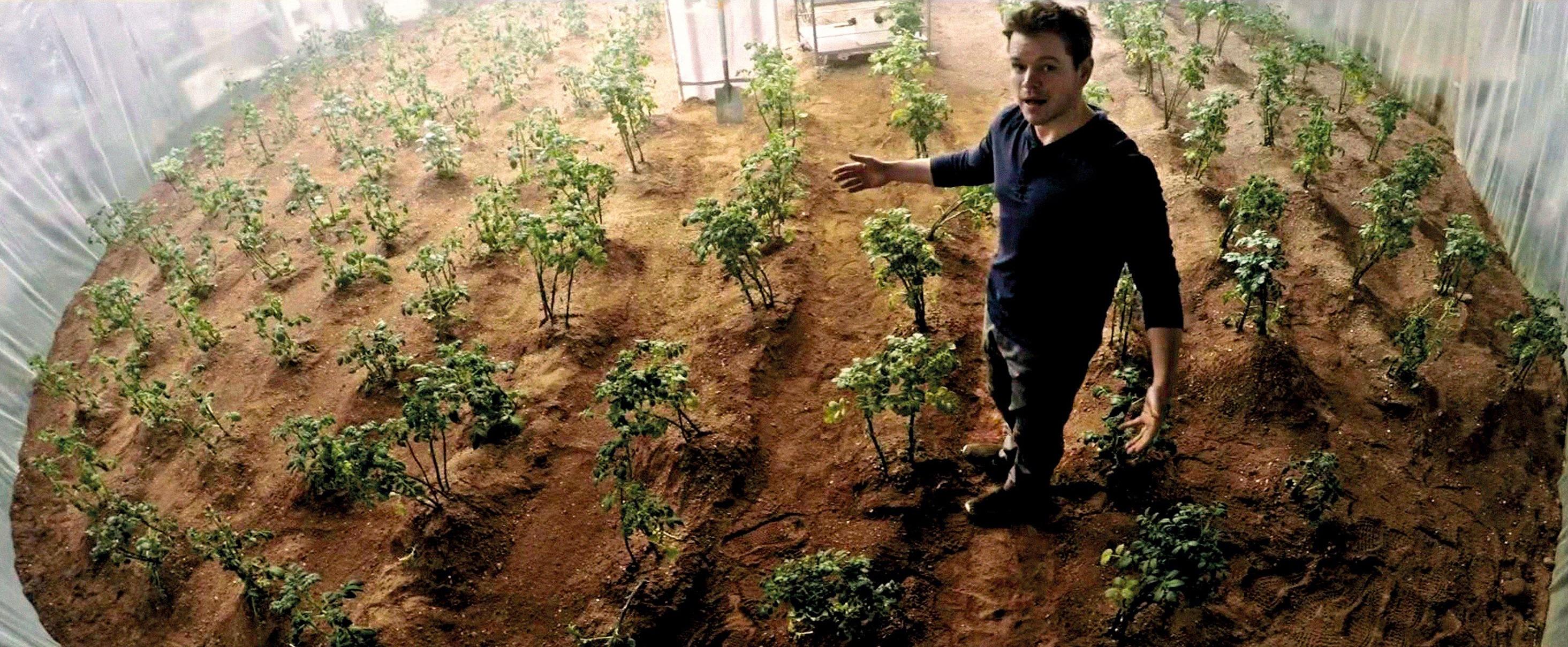 La serre de Mark Watney dans le film Seul sur Mars (2015).
