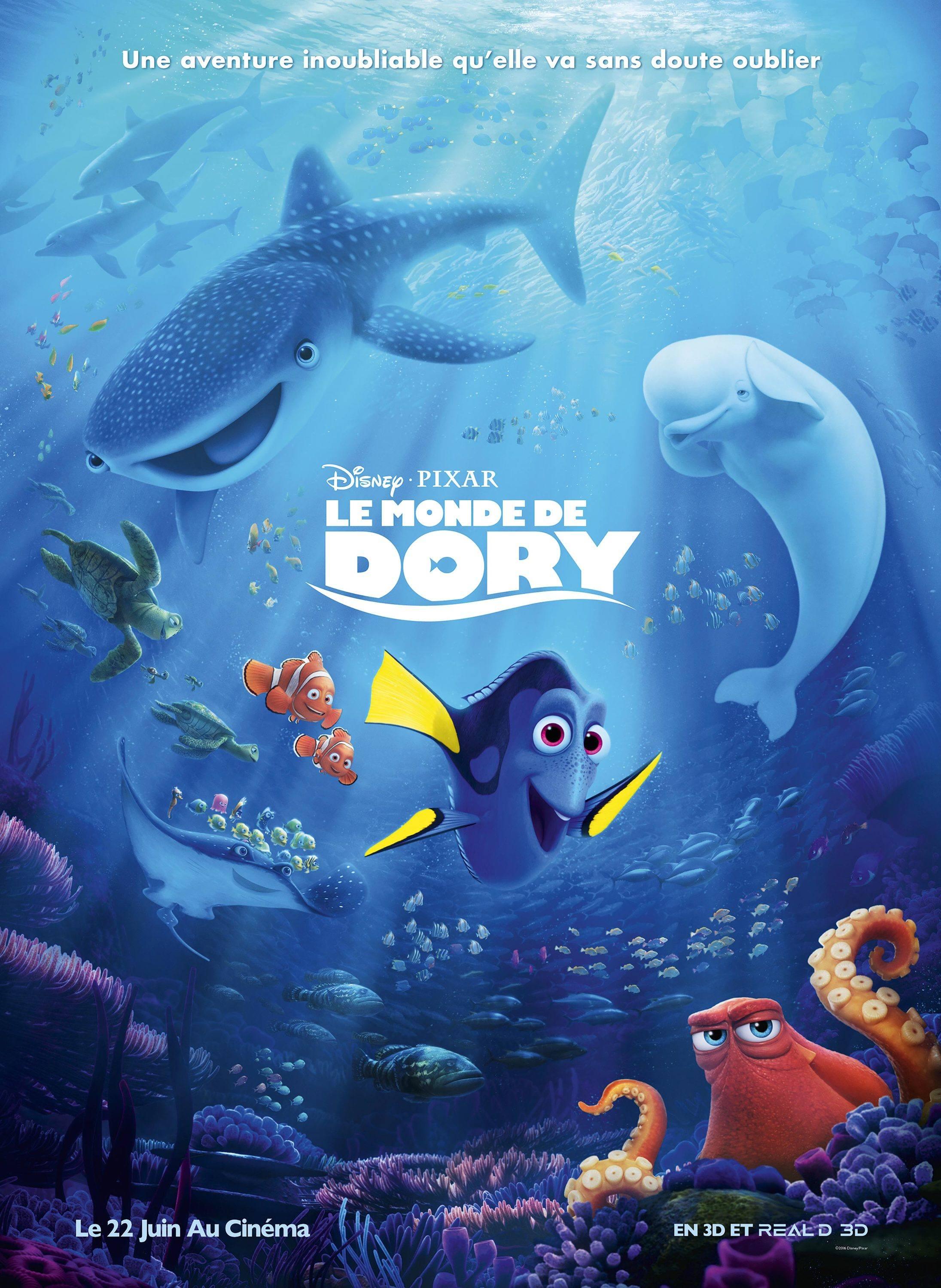 L'affiche du film Le Monde de Dory.