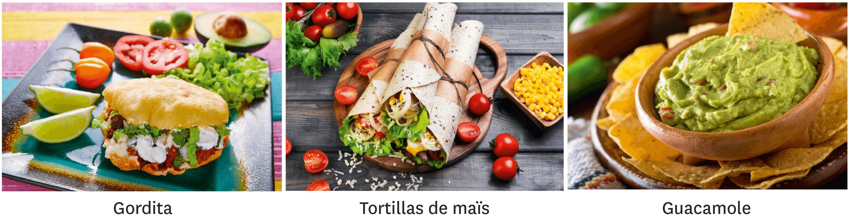 Quelques plats typiques mexicains.
