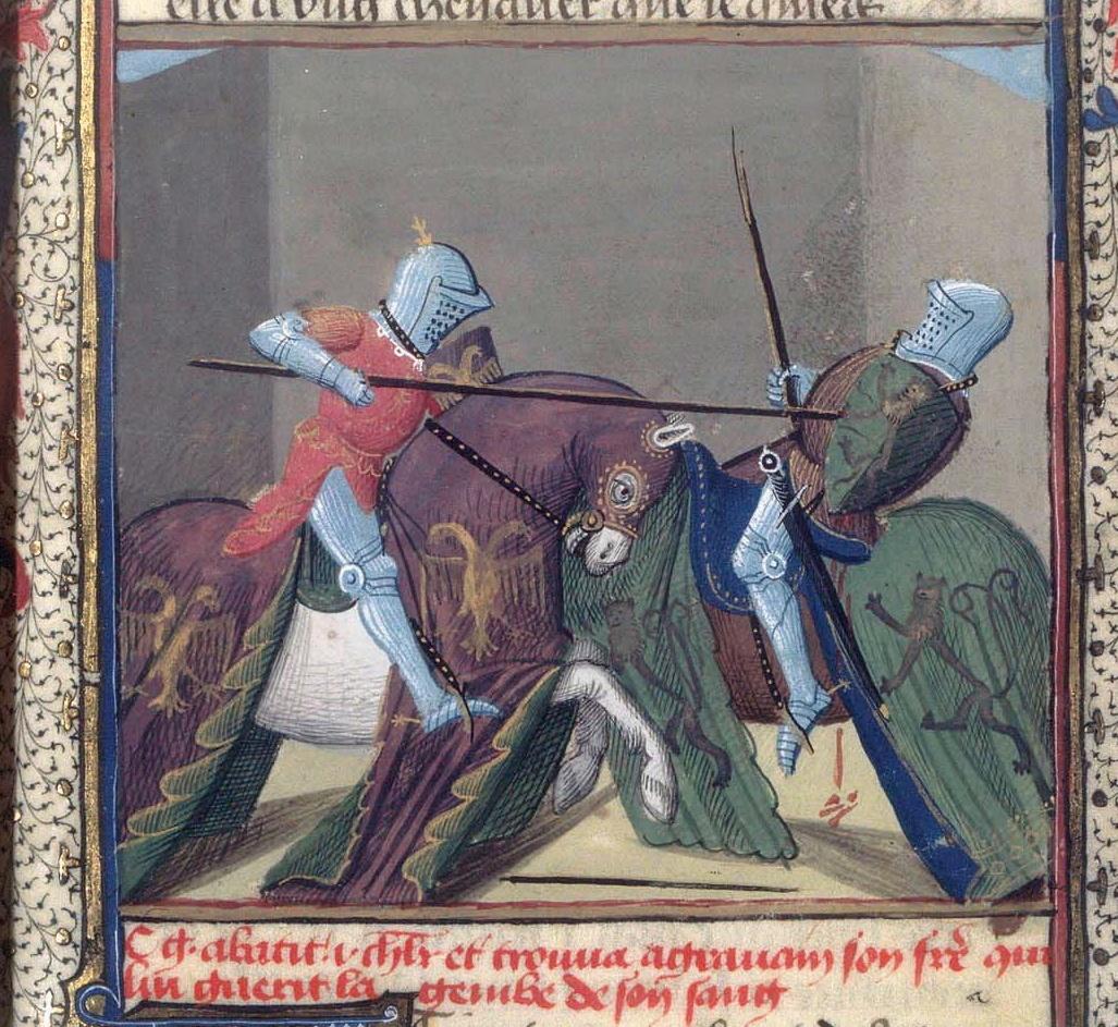 description d un combat de chevalier