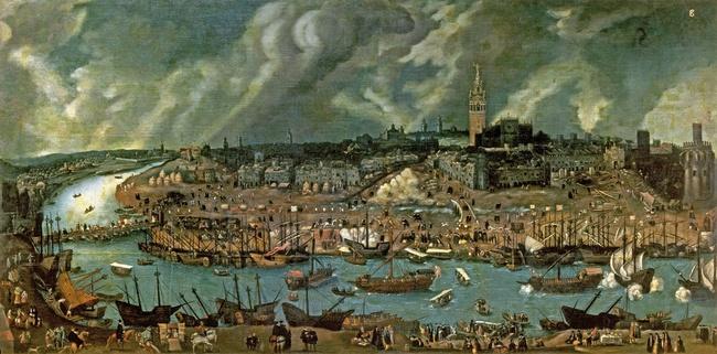 La richesse et l'activité du port de Séville au xvie siècle