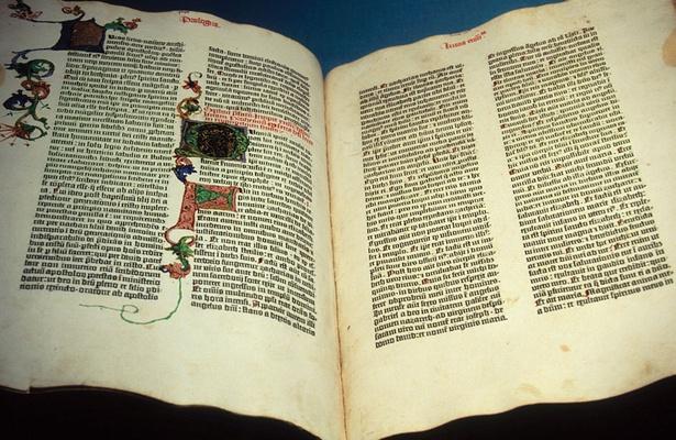 La Bible de Gutenberg, vers 1455