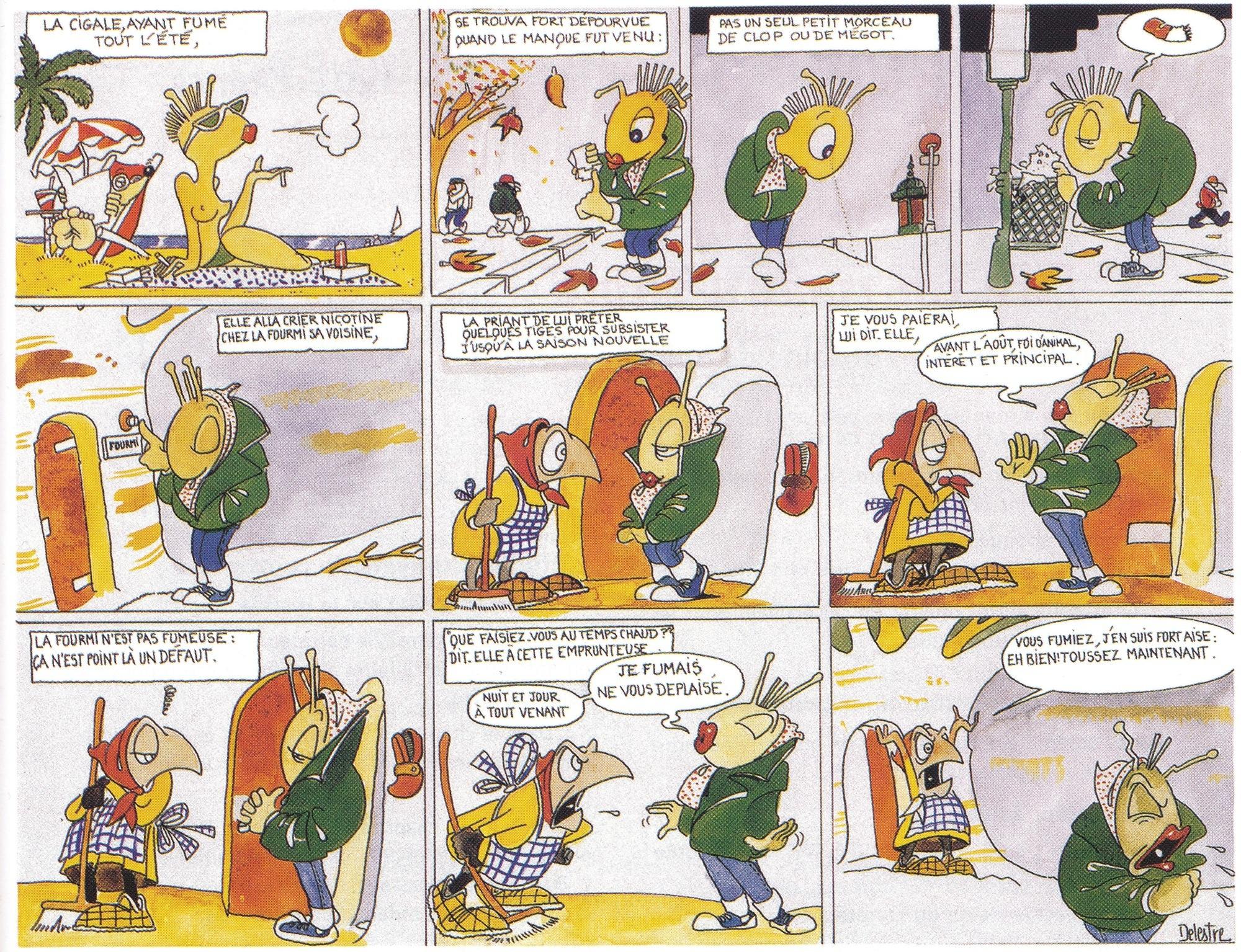 """""""La Cigale et la Fourmi"""" - komiks 1 - Francuski przy kawie"""