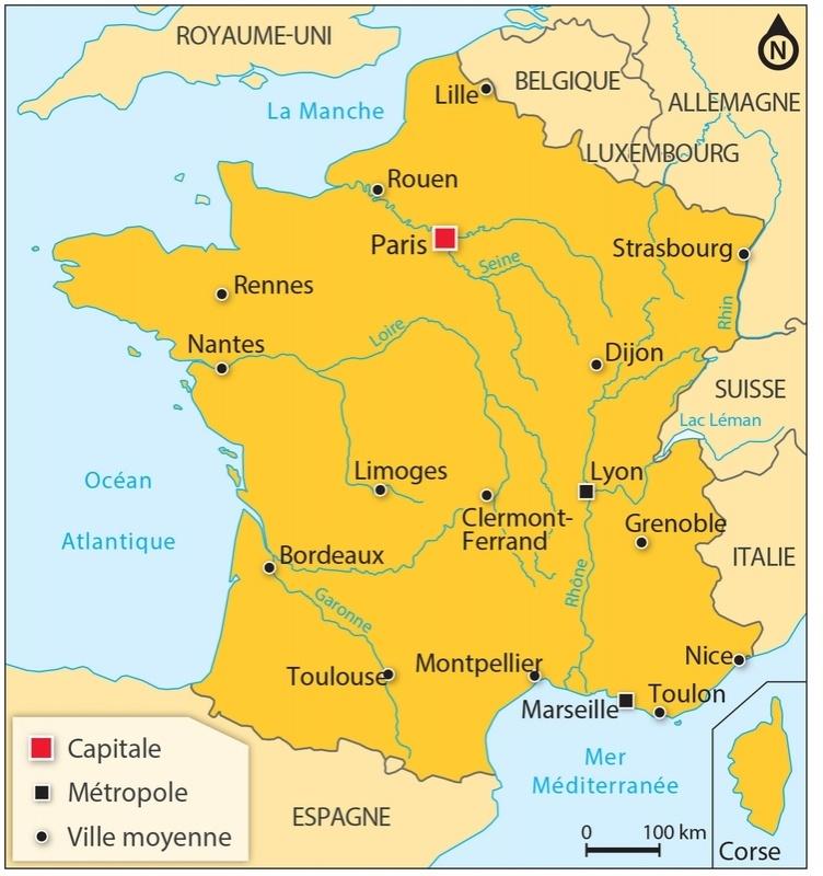 La Carte De La France Avec Ses Villes | popkensburg
