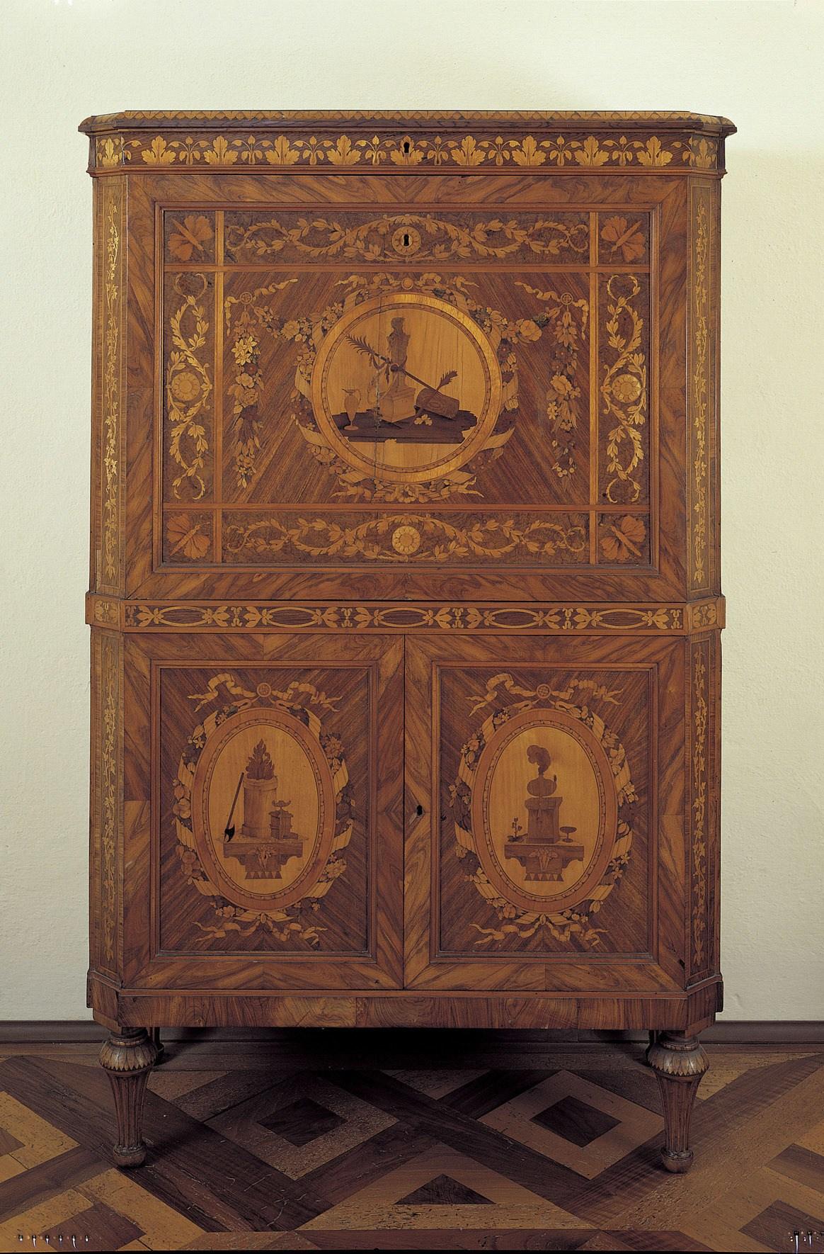meuble secretaire ancien. Black Bedroom Furniture Sets. Home Design Ideas