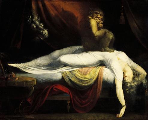 une peinture : l'une des plus célèbres représentations du cauchemar