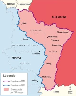 Carte Annexion Alsace Lorraine.La Question De L Alsace Lorraine Lelivrescolaire Fr