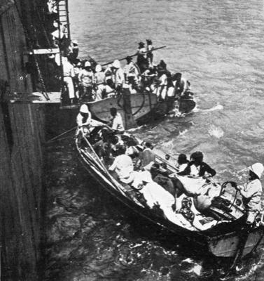 La fuite et l'exil des survivants