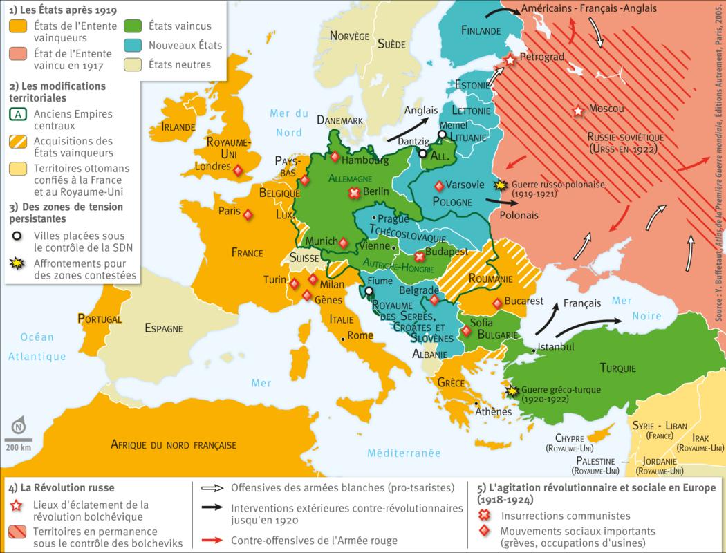 L Europe Au Lendemain De La Premi 232 Re Guerre Mondiale