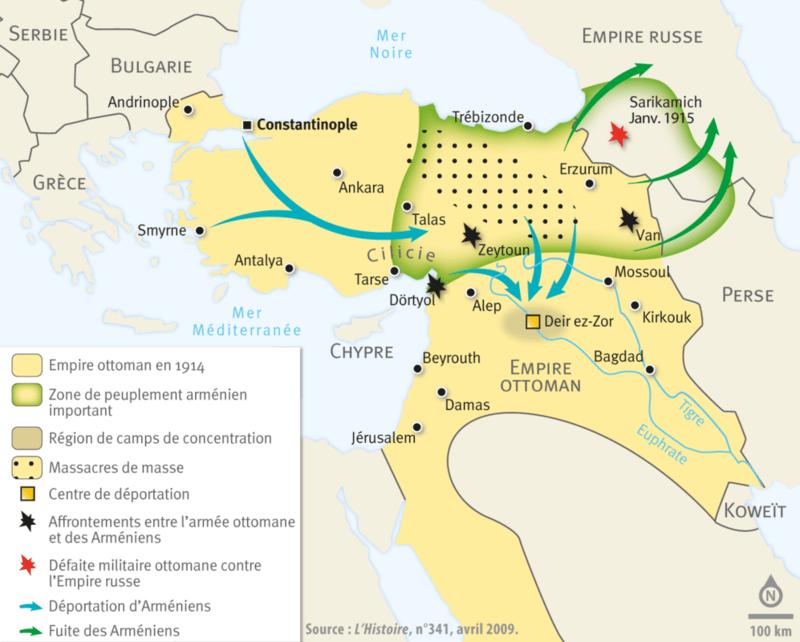 Les déportations des Arméniens (1915-1916)